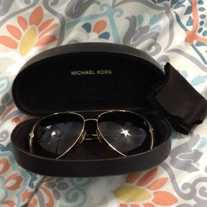 Michael Kors sunglasses gold and tan